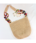 Cappelli Straworld Beaded Straw Purse Handbag Bag NWT - $39.00