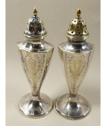 VTG Evans Silver plated Nickel Silver salt & pepper shakers set - $35.34