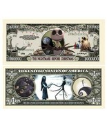 5 Nightmare Before Christmas 1 Million Dollar Bill Novelty Note Lot - $4.95