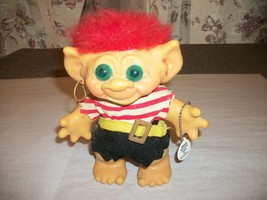 Vintage DAM Troll Doll Coin Bank Boy Pirate Outfit - $25.00