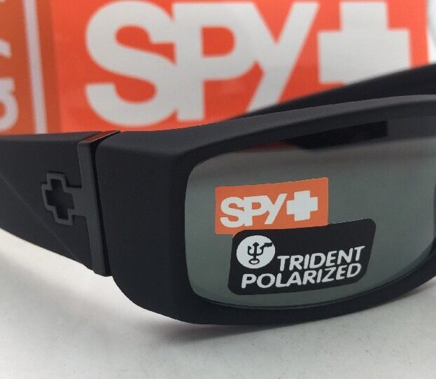 Polarized SPY OPTIC Sunglasses HIELO Soft Matte Black Frame w/ Grey-Green Lenses