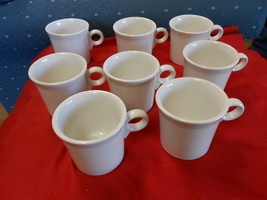 Magnificent White FIESTA Pottery ......Set of 8 MUGS......SALE - $25.84