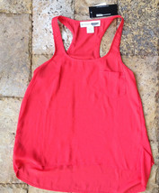 Necessary Objects Girls' Pocket Front Top, Red, Size L, MSRP $42 - $16.82