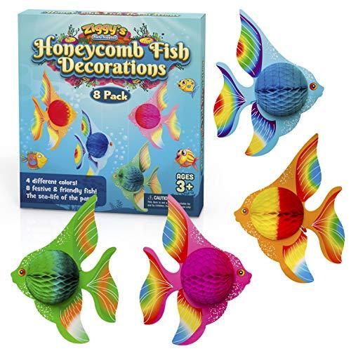 Honeycomb Fish Decorations By Ziggy's Party Supplies