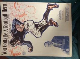 You Gotta Be A Football Hero - Sherman, Fields & Lewis - Sheet Music  1933 - $12.00