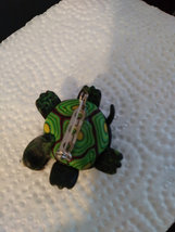 Unique Colorful Turtle Brooch Small Pin Turtle w/ Enamel Shell  image 3
