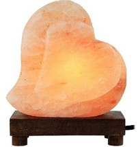 Pink Salt Lamp Heart Himalayan Light Romantic Gift Air Ionizer Health Rock Dim