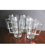 Set of Four (4) Princess House Crystal Beer Mugs - Aston Pattern - $39.00