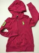 Polo Ralph Lauren Girl's Big Pony Full Zip Hoodie Pullover Pink Sweater ... - $16.99