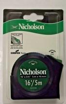 "Nicholson N35CME 16' x 3/4"" Toggle Lock Tape Measure SAE & Metric - $4.95"