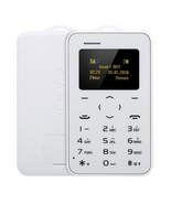 "aeku c6 card mobile phone white 4.8mm ultra thin pocket slim 0.96"" qwert... - $24.99"