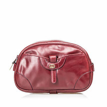 Pre-Loved Gucci Red Bordeaux Others Leather Clutch Bag Italy - $316.97