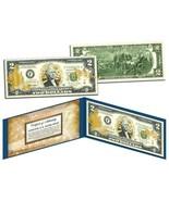 U.S. AIR FORCE LICENSED GOLD HOLOGRAM BILL! W/H PROTECTIVE FOLIO & COA - $16.70