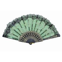 "Creative Simple Dancing Fans Folding Elegant Folding Summer Fan 9"" Green"