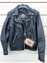NWT Harley Davidson Women Motor Cycle Genuine Leather Jacket - Small - $396.00