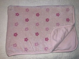 Carter's Pink Daisies Baby Blanket White Flowers Polka Dots Fleece 2 Ply - $24.74