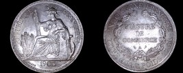 1904-A French Indo-China 1 Piastre World Silver Coin - Vietnam - $224.99
