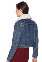 Levi's Women's Button Up Sherpa Lined Styled Denim Jean Trucker Jacket 578940000 image 3