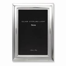 Bilaminate Sterling Silver Wide Plain Beaded 5x7 Frame - $138.30