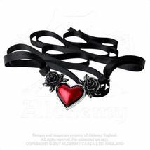 Alchemy Of England Gótico Sangre Corazón Roses Love Punk Goth Collar Cinta P746 image 2