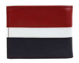 Tommy Hilfiger Men's Leather Wallet Passcase Billfold Rfid Red Navy 31TL220053 image 5