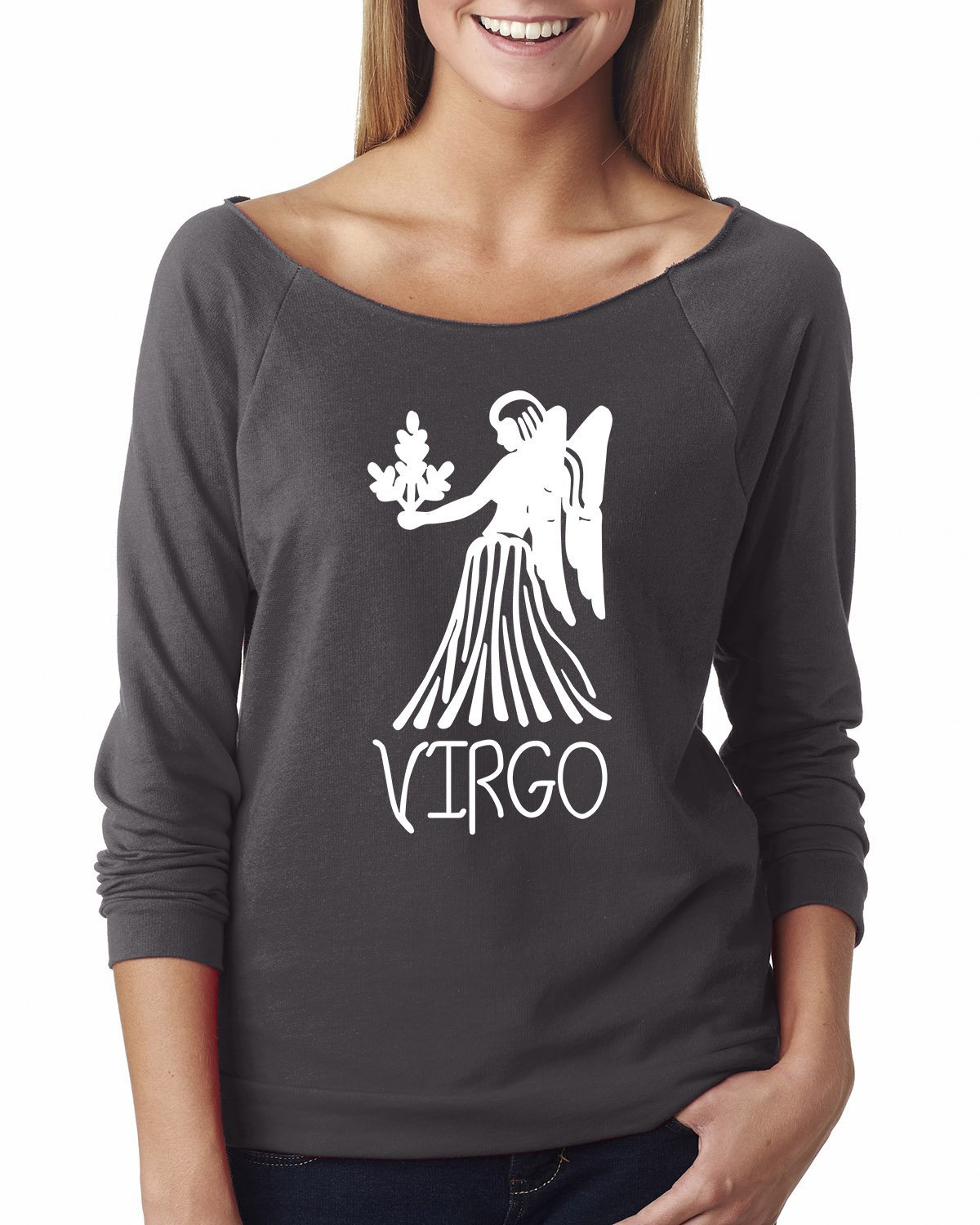 Virgo Zodiac Signs Birthday Off The Shoulder French Terry Top