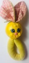 Vintage Playskool Bunny Rabbit Rattle Handle Yellow 1983 - $12.86