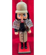 "Sherlock Holmes 14"" Wooden Nutcracker Target 2011 Holiday Decoration Sleuth - $24.74"