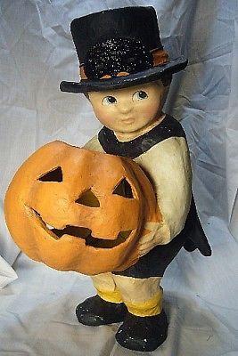 Bethany Lowe Halloween Pumpkin Surprise Boy  Large