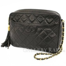CHANEL Chain Shoulder Bag Lambskin Black CC A01287 Italy Authentic 5521104 - $1,615.83
