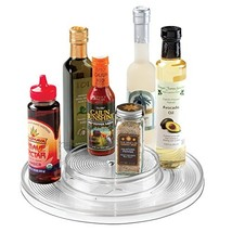 InterDesign Linus Lazy Susan Cabinet Turntable - 2-Tier Organizer Tray f... - $23.02