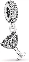 MiniJewelry Compatible with Pandora Charms Bracelets Pave Cocktail Glass... - $54.73