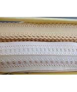 "VTG lot of 2 Stretch Edging Lace Trim 3/4"" wide Crafts Bow Wedding Trim ... - $25.74"