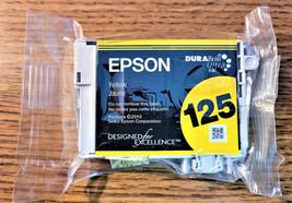 Original Epson 125 Yellow Dura Brite Ultra Ink Cartridge (T1254) 125 Yellow - $6.91