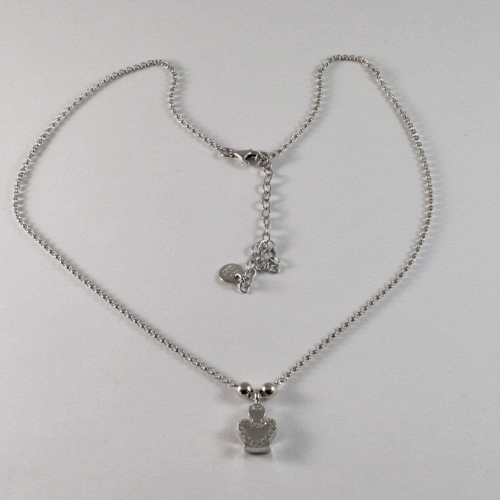 COLLANA IN ARGENTO 925 JACK&CO CON ANGELO CON ZIRCONIA CUBICA BIANCHI JCN0610