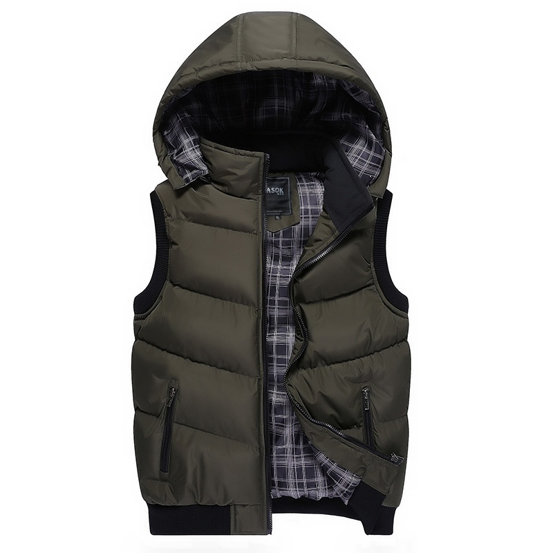 2018 New Fashion Autumn and Winter Men's Down Cotton Casual Vest Men and Women H