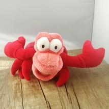 Disney Store Authentic Sebastian the Crab Beanbag Plush The Little Mermaid - $8.86