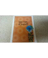 Floral greeting card for those not feeling well.Orange and white  - $3.25