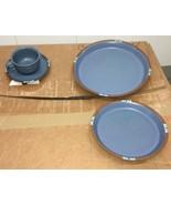Dansk Mesa Blue Lunch Plate, Cup n Saucer, Dinner Plate Set. - $24.74