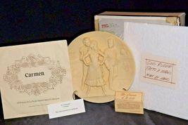 """""""Carmen"""" Di Volteradici Commemorative Plate by Gene Ruggeri AA20-CP2330 Vintage image 3"""