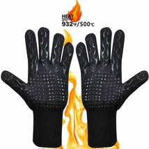 300-500 Centigrade BBQ Glove  Extreme Heat Resistant Silicone Microwave ... - $16.68