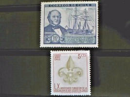 Chile Set of 2 Stamps MINT -canceled - MNH Free Shipping # 002145 - $1.68