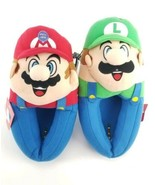 Super Mario Bros Youth Boy's Plush Mario and Luigi Musical Slippers Size... - $19.59
