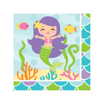 Mermaid Friends Beverage Napkins, Case of 192 - £28.04 GBP