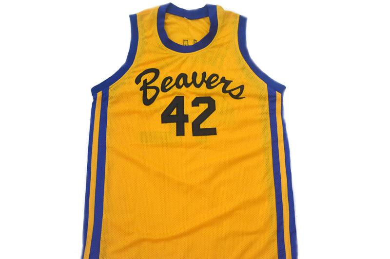 Howard #42 Beavers Teen Wolf Movie New Men Basketball Jersey Yellow Any Size