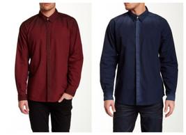 Seven7 Men's Brushed Poplin Button-Down Shirt Long Sleeve Licensed NEW