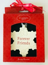 St Nicholas Square Snowflake Christmas Ornament Forever Friends Porcelai... - $12.59
