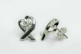 Tiffany & Co. Paloma Picasso Open Heart Loving Stud Sterling Silver Earrings  - $255.40