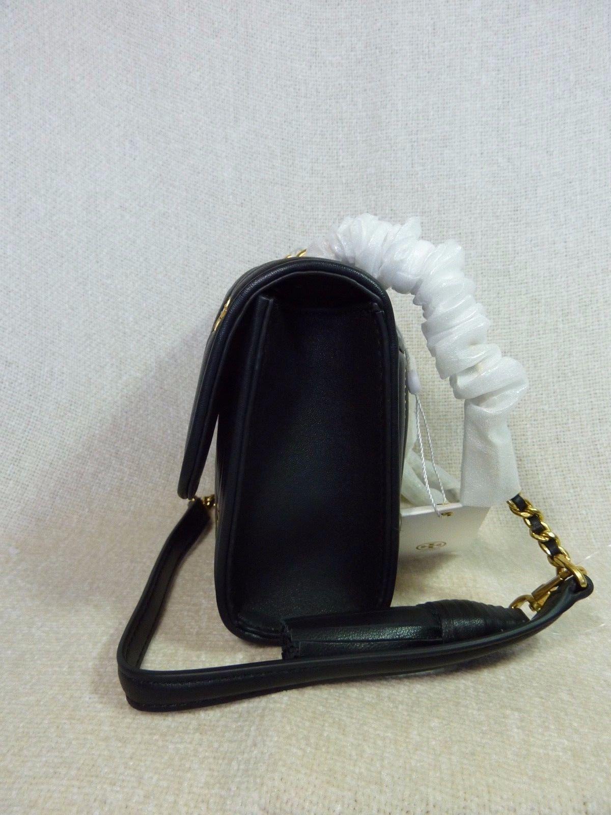 NWT Tory Burch Black Fleming Star-Stud Small Convertible Bag $558 image 3