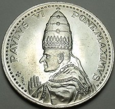 Vatican Silver Medal Pope Pavlvs Vi~John Paul Vi~Anno Santo 1975 Roma~Free Ship - $26.23